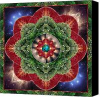 Geometric Photo Canvas Prints - World-Healer Canvas Print by Bell And Todd