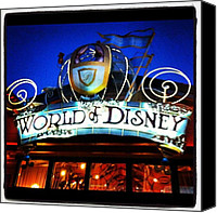 Children Photo Canvas Prints - World of Disney Canvas Print by Lea Ward