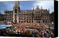 Rathaus Photo Canvas Prints - World Party Canvas Print by Kevin Smith