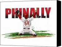 Phillies Art Digital Art Canvas Prints - World Series Champions Phinally Canvas Print by David E Wilkinson