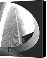 Cities Canvas Prints - World Trade Center Two NYC Canvas Print by Steven Huszar