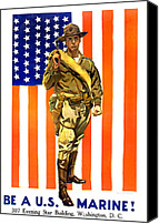 Flagg Canvas Prints - World War I, Recruitment Poster Canvas Print by Everett