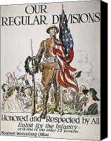 Flagg Canvas Prints - World War I: U.s. Army Canvas Print by Granger