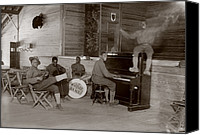 Drum Set Canvas Prints - World War I, U.s. Army Jazz Band, Circa Canvas Print by Everett