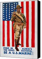 Flagg Canvas Prints - World War I: U.s. Marines Canvas Print by Granger