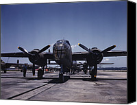 Kansas City Canvas Prints - World War Ii, B-25 Bomber Planes Canvas Print by Everett