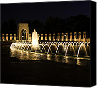 War Memorial Canvas Prints - World War Memorial Canvas Print by Kim Hojnacki