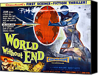 1950s Poster Art Canvas Prints - World Without End, Bottom Left Nancy Canvas Print by Everett