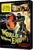 1956 Movies Canvas Prints - World Without End, Lisa Montell Top Canvas Print by Everett