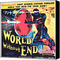 1956 Movies Canvas Prints - World Without End, Poster Art, 1956 Canvas Print by Everett
