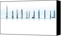 Sears Tower Canvas Prints - Worlds Tallest Buildings, Artwork Canvas Print by Claus Lunau