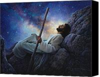 Night Canvas Prints - Worlds Without End Canvas Print by Greg Olsen