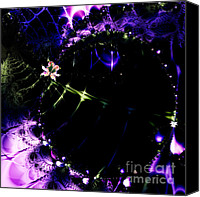 Time Travel Canvas Prints - Wormhole Beyond . Square . S4a.S10 Canvas Print by Wingsdomain Art and Photography