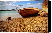 Rowboat Canvas Prints - Wrack Canvas Print by Carlos Caetano