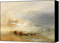 Shipwreck Painting Canvas Prints - Wreckers - Coast of Northumberland Canvas Print by Joseph Mallord William Turner