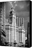 Landmarks Canvas Prints - Wrigley Building Chicago Illinois Canvas Print by Christine Till