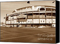 Wrigley Field Canvas Prints - Wrigley Field Canvas Print by David Bearden