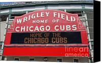 Wrigley Field Canvas Prints - Wrigley Field Canvas Print by Steve Sturgill