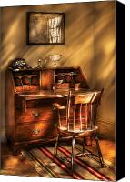 Writer Canvas Prints - Writer - A chair and a desk Canvas Print by Mike Savad