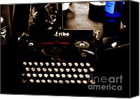 Typewriter Canvas Prints - Writing Back to the German Forties Canvas Print by Steven  Digman