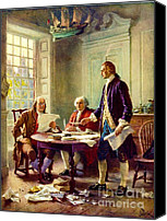Declaration Of Independence Canvas Prints - Writing Declaration of Independence Canvas Print by Pg Reproductions