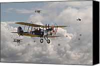 Raf Canvas Prints - WW1 RE8 Aircraft Canvas Print by Pat Speirs