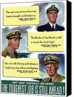 Us Navy Canvas Prints - WW2 US Navy Admirals Canvas Print by War Is Hell Store