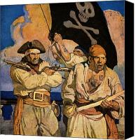 Bandana Canvas Prints - Wyeth: Treasure Island Canvas Print by Granger