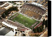 War Memorial Canvas Prints - Wyoming War Memorial Stadium Canvas Print by University of Wyoming