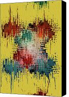 Red Crimson Canvas Prints - X Marks the Spot Canvas Print by Bonnie Bruno