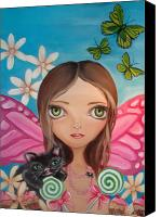 Teen Painting Canvas Prints - Xenia Fairy Canvas Print by Jaz Higgins