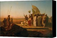 Great Painting Canvas Prints - Xerxes at the Hellespont Canvas Print by Jean Adrien Guignet