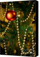 Decorate Canvas Prints - Xmas Ball Canvas Print by Carlos Caetano
