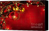 Ball Canvas Prints - Xmas Frame Canvas Print by Carlos Caetano