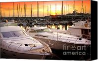 Tide Canvas Prints - Yacht Marina Canvas Print by Carlos Caetano