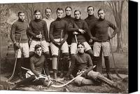 Hockey Sweater Canvas Prints - Yale Ice Hockey Team, 1901 Canvas Print by Granger