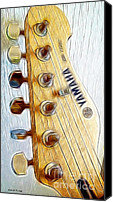 Guitar Headstock Canvas Prints - Yamaha Canvas Print by Cheryl Young
