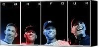  New York Yankees Canvas Prints - Yankee Core Four by GBS Canvas Print by Anibal Diaz