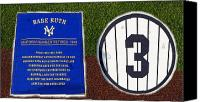  New York Yankees Canvas Prints - Yankee Legends number 3 Canvas Print by David Lee Thompson