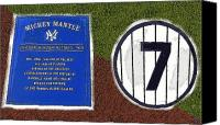 Number 7 Canvas Prints - Yankee Legends number 7 Canvas Print by David Lee Thompson