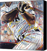 Homerun Canvas Prints - Yankee Canvas Print by Redlime Art