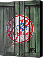 Major Mixed Media Canvas Prints - YANKEES at the GATES Canvas Print by Dan Haraga