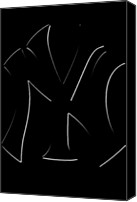 Anibal Diaz Canvas Prints - Yankees Simply Faded by GBS Canvas Print by Anibal Diaz