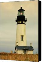 Old Buildings Canvas Prints - Yaquina Head Lighthouse - Newport OR Canvas Print by Christine Till