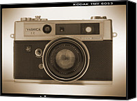 Film Camera Canvas Prints - Yashica Lynx 5000E 35mm Camera Canvas Print by Mike McGlothlen