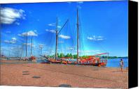 Malmo Digital Art Canvas Prints - Yatchs Canvas Print by Barry R Jones Jr