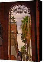Tampa Canvas Prints - Ybor Arch Canvas Print by Patrick  Flynn