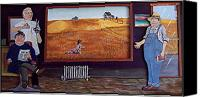 Rural Scenes Reliefs Canvas Prints - Yeah Shes Been Out There For A While Now Canvas Print by Richard  Hubal