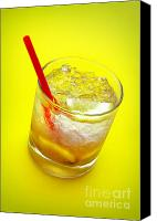 Cube Canvas Prints - Yellow Caipirinha Canvas Print by Carlos Caetano