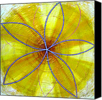 Mystical Canvas Prints - Yellow Chakra Canvas Print by Anne Cameron Cutri